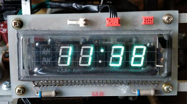 Octoglow VFD - Clock display board