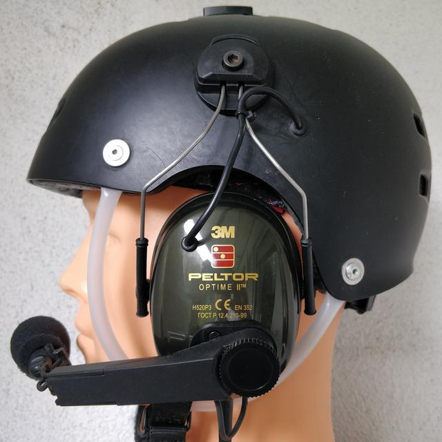 Paramotor helmet with headset